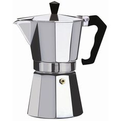 Brew yourself the perfect treat in this aluminum espresso maker. This extra large espresso maker can make enough for you and your guests, so it's ideal for gatherings. Product Features: Adjustable Bre