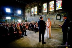 Wedding ceremony at Asylum, a chapel in Peckham formerly serving retired landlords -