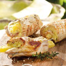 Curry-Puten-Röllchen mit Ananas