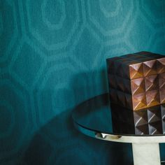 Abstract Casamance Wallpaper (source Casamance) Fabric Wallpaper Australia / The Ivory Tower