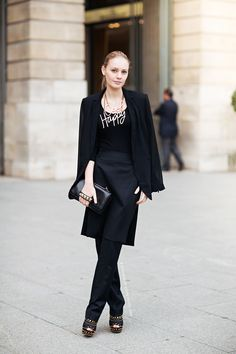 """an undecisive tryout in artsy without letting go of shiksa biker, some relaxed inbeween - """"Lanvin bling - Alina in Paris"""""""