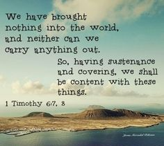 1 Timothy 6:7,8
