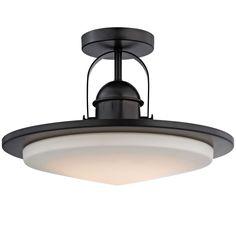 Modern Industrial Minimalist LED Semi-Flush Ceiling Light