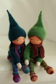 Knit waldorf dolls (pixies) - Daniela Petrova