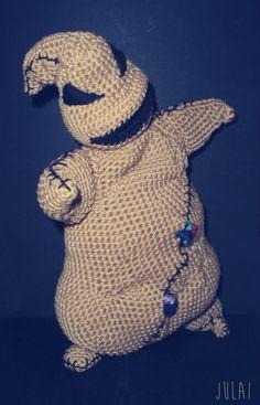 Oogie Boogie from Nightmare Before Christmas crochet plush t #geek #amigurumi