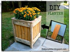 """That's My Letter: """"P"""" is for Planter, diy planter from fence piece"""