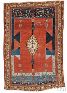 Lot 107. Bakshaish Rug, Northwest Persia, c. 1900, 7 ft. 10 in. x 5 ft. 4 in. Estimate $3,000-4,000