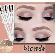Brown To Blonde, Light Blonde, Black And Brown, Contour Makeup, Contouring And Highlighting, Face Contouring, Eyebrow Makeup, Light Brow, Brow Pen
