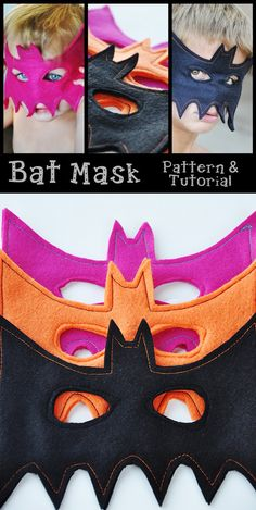 Easy bat mask tutorial by Living With Punks.