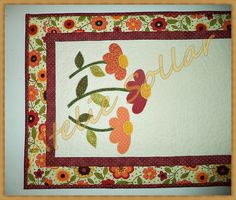 Trilho de mesa flores do Ateliê Sollar.