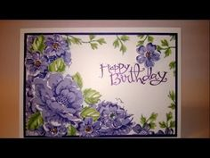 Stippled Blossom Card Video Tutorial - featuring Stampin' Up products - YouTube