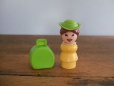 Vintage Fisher Price Westerner Little People Figure Lady by jessamyjay on Etsy