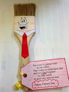 Paintbrush Guy - Father's Day Craft #fathersday