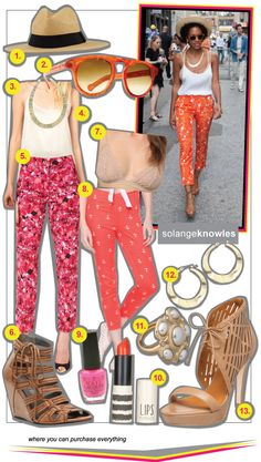 New Blog Post: #SolangeKnowles in bold #floral print and how to get the look: http://www.richesforrags.com/2012/03/cool-beyonce-isnt-only-knowles-with.html