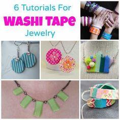 washi tape jewelry