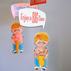 Vintage Ice Cream Shop Advertising Mobile by TheFancyLamb on Etsy