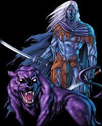 i dont like when Drizzt is drawn with huge  muscles like he's superman or something. He's supposed to be small and quick, not a lumbering hulk.