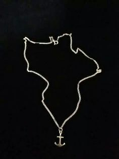 Anchor your heart with this silver necklace!