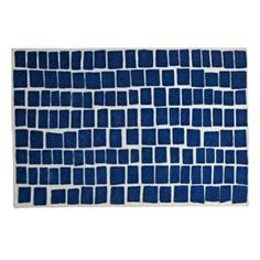 The building block of any modern bedroom, this simple hand tufted Blue Bars Rug is actually a complicated combination of loop and cut pile construction.  Guaranteed to give your room depth and texture. Nod exclusiveA Blake Kahan designHand tufted, high/low featuring loop and cut pile construction.