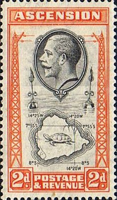 Ascension Islands Stamps 1934 King George V 24 Map Fine Mint Scott 26  Other Ascension Island Stamps HERE