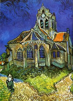 Van Gogh The Church At Auvers Canvas Print / Canvas Art by Pg Reproductions