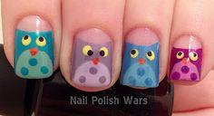 Owl nails <3