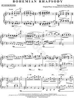 """Player Piano feat. Sonya Belousova """"Bohemian Rhapsody"""" Sheet Music (Piano Solo) - Download & Print"""
