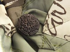 Unique Ladies Scarflette. Olive Pale Green  Khaki Gray by OseArt, $26.00
