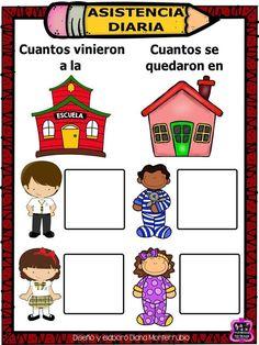 Asistencia diaria English Activities, Preschool Activities, New Classroom, Classroom Decor, Classroom Organization, Classroom Management, Spanish Lesson Plans, Lesson Planner, School Items
