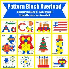 *FREE* Pattern Block Templates