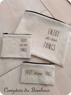 ...☆... . --------------------------------- Enjoy The Little Things, Sewing, Fabric Purses, Linen Fabric, Bonheur, Dressmaking, Couture, Fabric Sewing, Stitching
