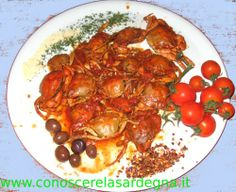 Granchi al sugo, Sardegna, Crabs,  Sardinia
