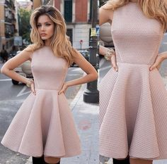 Cute nude dress discovered by C⃚r⃚u⃚u⃚s⃚h⃚i⃚e⃚s⃚ Cute Prom Dresses, Grad Dresses, Dance Dresses, Elegant Dresses, Pretty Dresses, Homecoming Dresses, Sexy Dresses, Beautiful Dresses, Dress Outfits