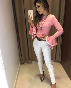 All in the jeans Fashion Pants, Girl Fashion, Fashion Looks, Womens Fashion, Love Fashion, Classy Outfits, Stylish Outfits, Professional Attire, Elegant Outfit