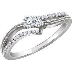 14kt White Gold 1.4 ctw Diamond Two-Stone Ring...(652224:60000:P).! Price: $459.99 #14kt #Gold #Whitegold #Womens #Fashion #Jewelry #Ring #Kickoffsale