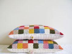 selma and velma crochet cushions by emma lamb, just gorgeous