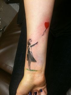 Banksy tattoo....ILOVEYOU. i want you.