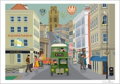 Park Street Bristol  A4 Print by Clareillustrates on Etsy, £20.00