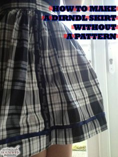 How to Make a Dirndl Skirt Without a Pattern