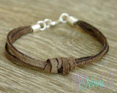 Suede Bracelet Boy bracelet girl bracelet adult by NinniLu on Etsy