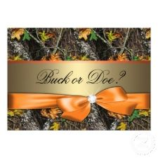 camo theme gender reveal party | ... and Personalized Invitations for a Fall Theme Gender reveal Party