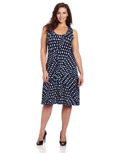Fashion Bug Women Plus Size Sleeveless V Neck Dress with Lace Back