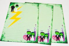 Frankenstein's Lab A5 Stationery 24 sheets by LaPapierre on Etsy