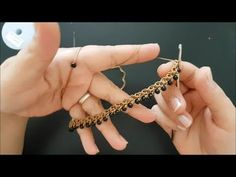 how to make a beaded necklace - Crochet Crochet Beaded Necklace, Crochet Rings, Knitted Necklace, Wire Crochet, Crochet Bracelet, Beaded Earrings, Beaded Jewelry, Crochet Video, How To Make Necklaces