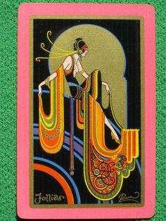 "FRED L PACKER FABULOUS ART DECO PLAYING CARD ""FOLLIES"" VINTAGE ORIGINAL 1928"