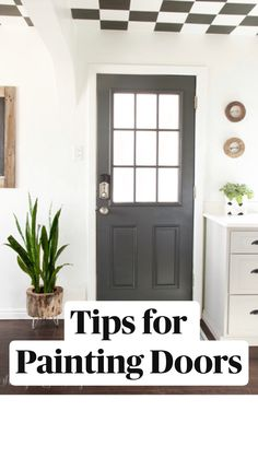 Remove all hardware and place in baggie. Published by Stacy Risenmay. Painted Interior Doors, Painted Front Doors, Dark Interior Doors, Interior Door Colors, Door Paint Colors, Front Door Colors, Spring Home Decor, Diy Home Decor, Home Renovation