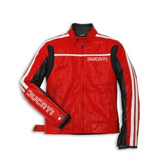 DUCATI MOTORCYCLE JACKET, BIKER LEATHER JACKET, DUCATI RED COLOR JACKETS