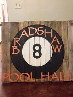 Elegant Vintage Pool Hall Signs