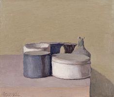 Giorgio_Morandi_Nature morte, 1955, huile sur toile, 25,5 x 30,5 cm, Winterthur, Kunstmuseum.
