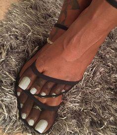 White Toenails, Long Toenails, Pantyhose Heels, Stockings Heels, Stockings Lingerie, Cute Toes, Pretty Toes, Pretty Toe Nails, Sexy Legs And Heels